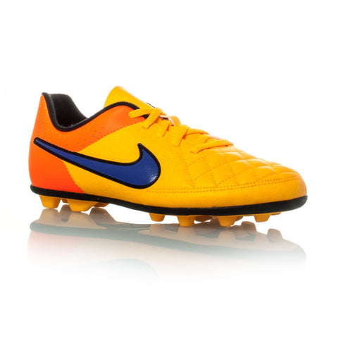 Nike Jr Tiempo Rio II FG-R (orange) Junior football boots