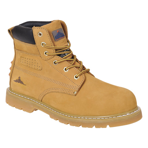 Portwest Work Boots FW35 Steelite Welted Plus Safety Boot SBP HRO Honey