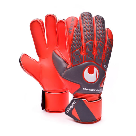 Uhlsport Aerored soft SF goalkeeping gloves dark grey/fluo red/white