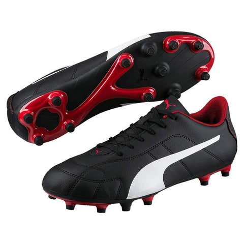 Puma Classico FG Football Boots black white red.