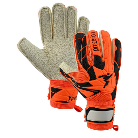 PRECISION fusion X3D Goalkeeper Gloves flat cut turf Junior