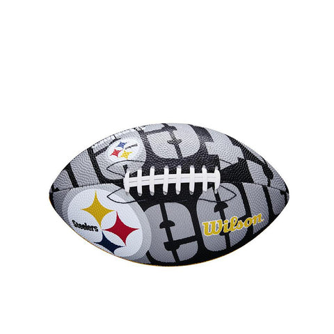 Wilson NFL Team Logo American Football Pittsburgh Steelers Junior