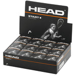 Head individual  Squash Ball- Prime, Tournament and Start options.