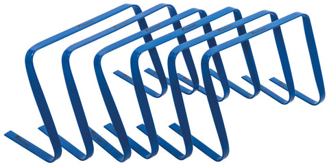 "Precision flat hurdles set of 6 (blue 12"")"