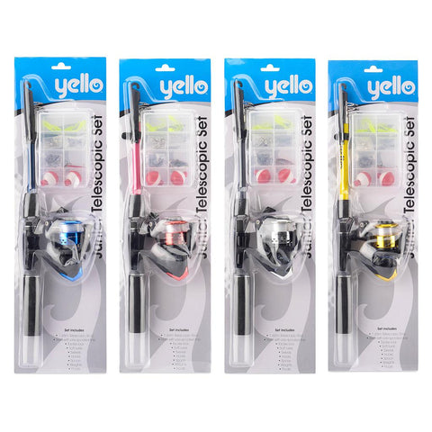 Yello Junior Telescopic Fishing rod  Starter set