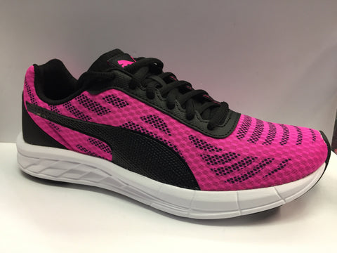 Puma meteor ladies trainers pink black