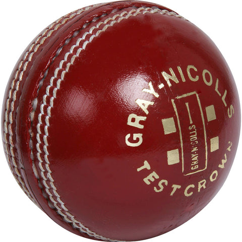 Gray Nicolls Test Crown solid hide leather quality cricket ball 5.5oz senior red