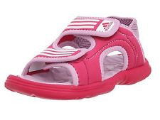 Akwah childrens junior and infant sandals pink velcro strap