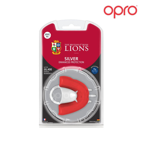 OPRO junior British Lions Silver protection Gumshield Mouthguard