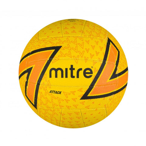 Mitre Attack Netball - Yellow/Orange - size 5