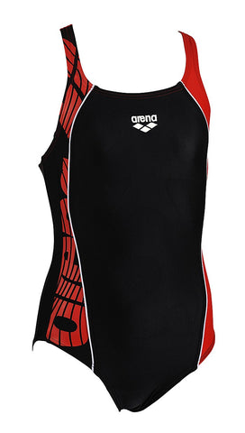 Arena girls mouce youth black and red one piece swimming costume size 24 age 4-5