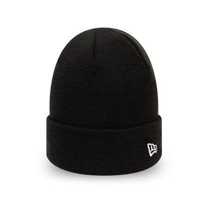 New Era Essential Cuff Knit Beanie Hat- Black - One size Adults.