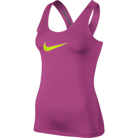 Nike Pro Core Fitted Ladies Running Tank Vest Top - Pink