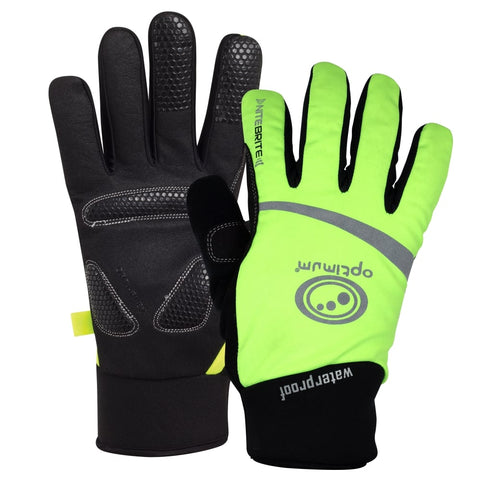Optimum NITEBRITE WATERPROOF Cycling WINTER Gloves