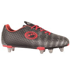 Optimum Viper Rugby Boots Junior black red 1-6