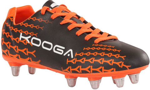 Kooga control boot junior orange black size 3