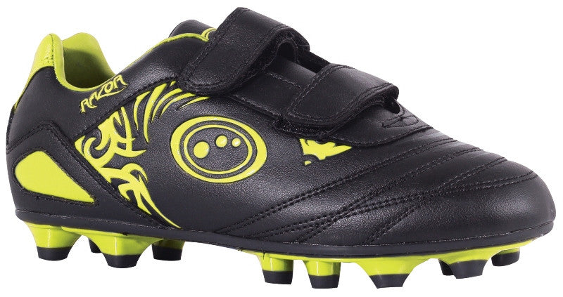 5214d226185 Optimum Junior Razor Rugby /Football boots moulded studs Velcro Fastening.  black yellow