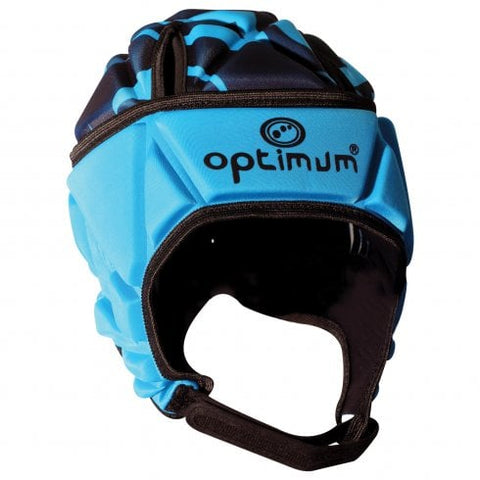 Optimum Rugby Junior Skull call Headguard cyan / black