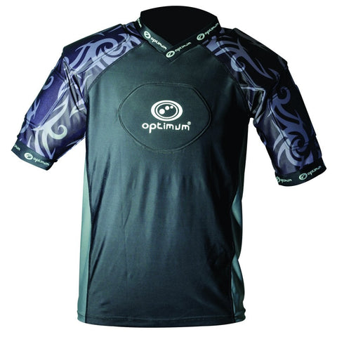 Optimum Razor Rugby protective top black silver
