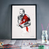 ART OF FOOTBALL- Soccer History captured in Art! - A4 Prints! Great Gifts