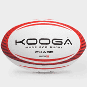 Kooga Red and White Rugby Ball 'Made For Rugby'