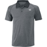 Wilson turbulence core Men's tennis polo shirt dark grey