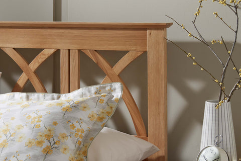 Maiden Solid Oak Wooden Headboard