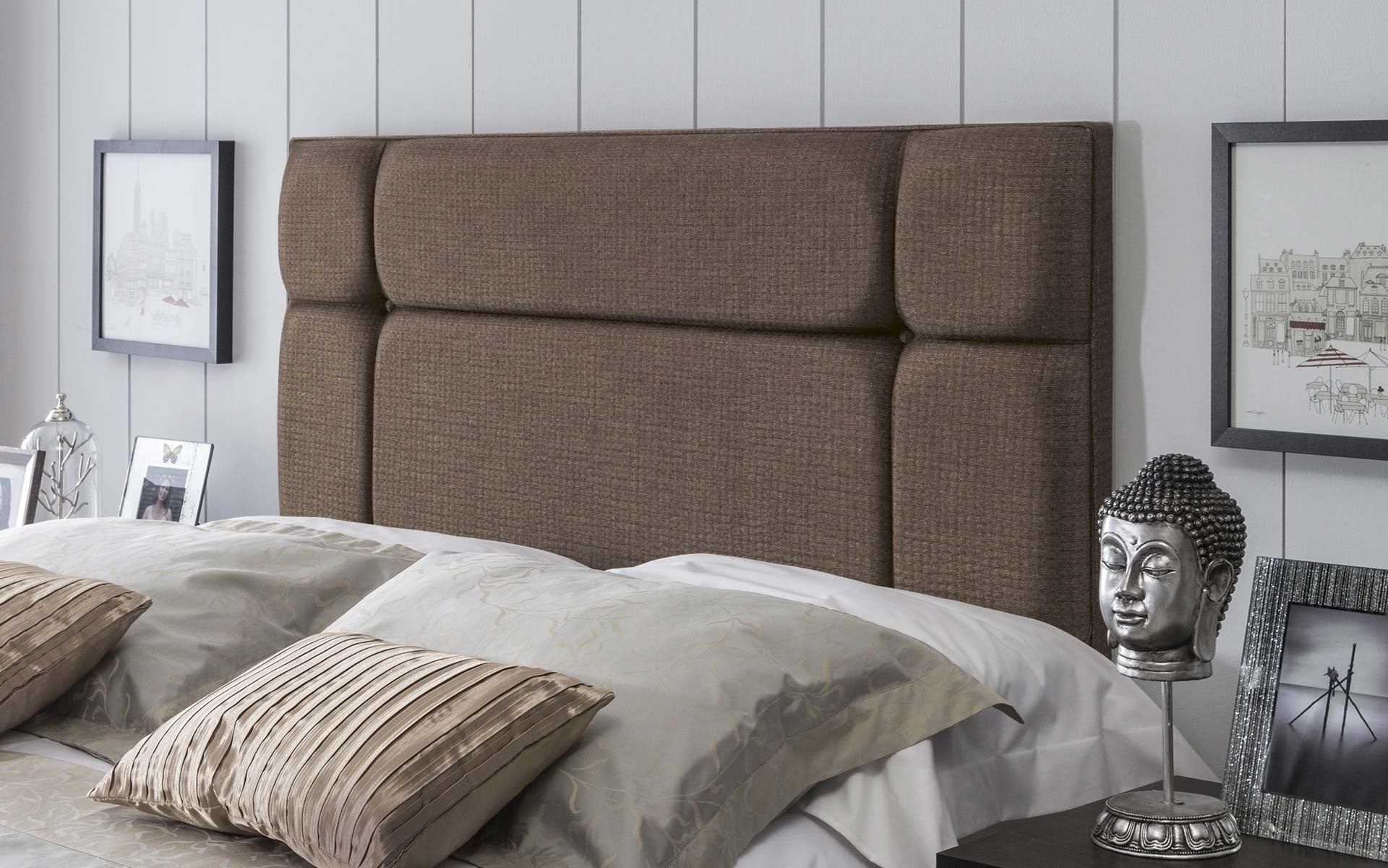 Pavia Upholstered Headboard - 5ft King Size - The Headboard Store