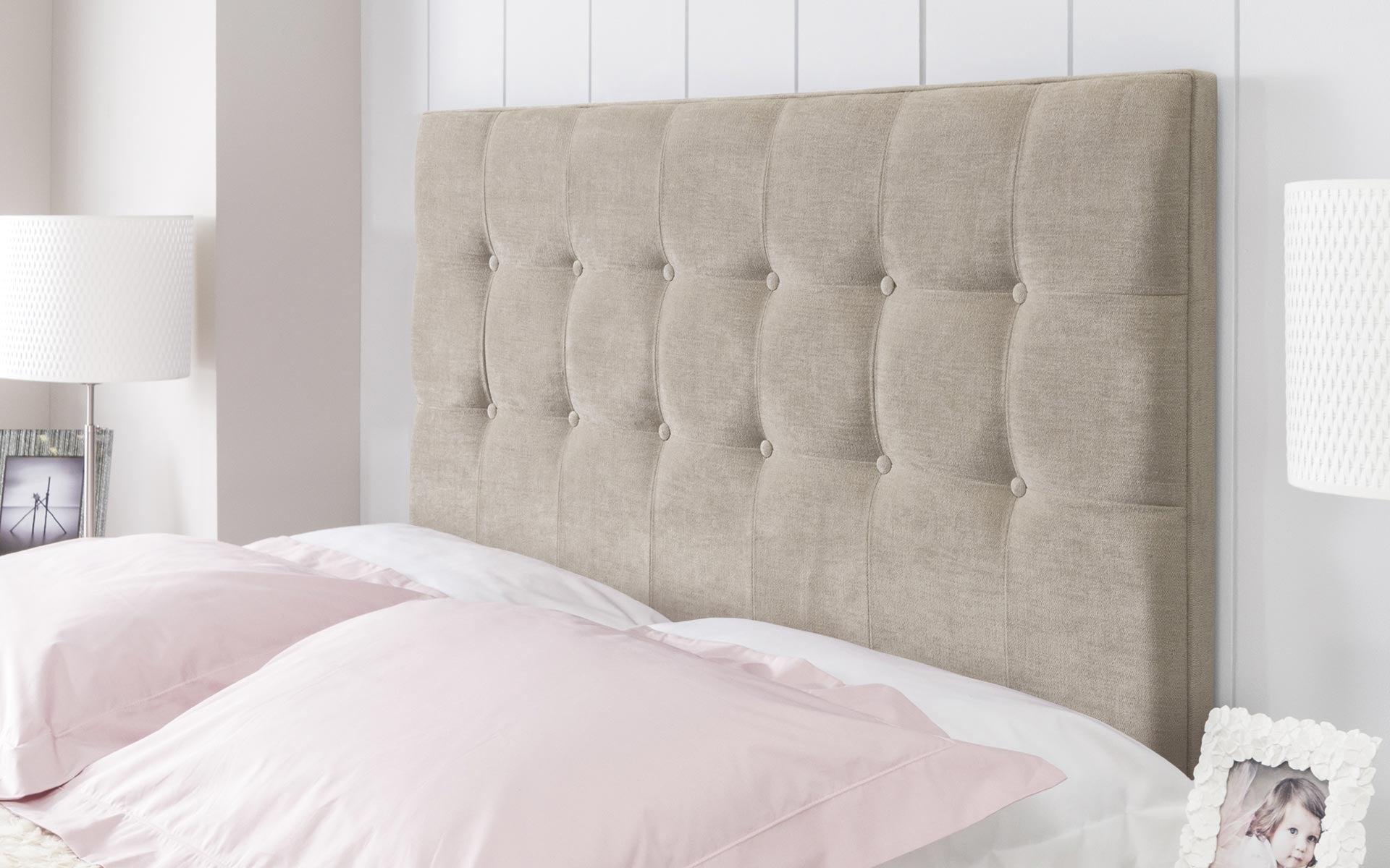 products buttoned a in bed upholstered bab mounted bespoke headboard fabric tucked wall retro smo smoke loaf