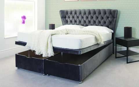 Ottoman End Lift Storage Divan Bed Base