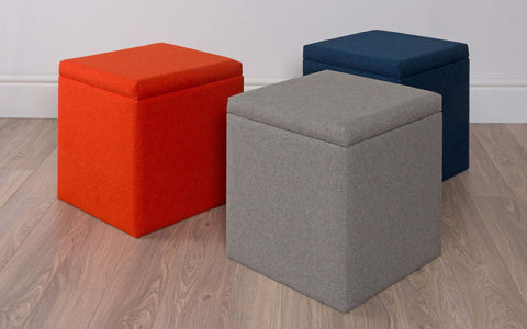 Large Upholstered Storage Cube
