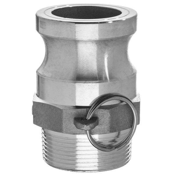 Type F Adapter with Threaded NPT Male End - Aluminum