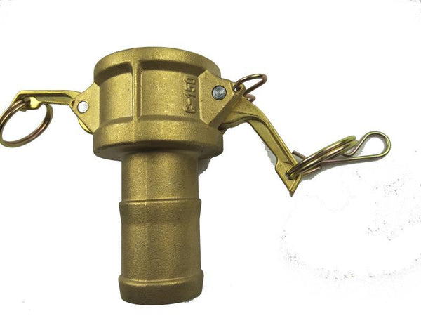 Type C Coupler with Hose Shank - Brass