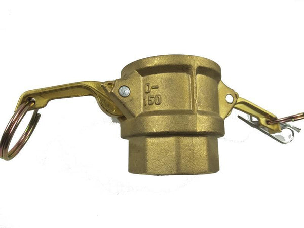 Type D Coupler with Threaded NPT Female End - Brass