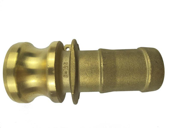 Type E Adapter with Hose Shank - Brass