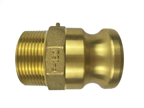 Type F Adapter with Threaded NPT Male End - Brass