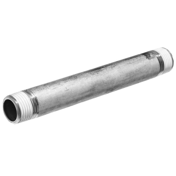 "Schedule 40 304 Stainless Steel Pipe Nipple 1-1/2"" to 12"" Inch Length with PTFE Thread Sealant"