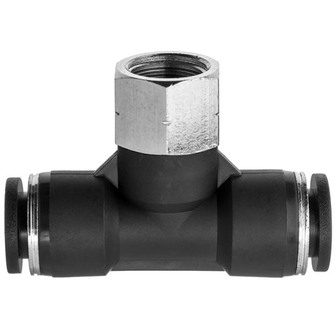 Push to Connect Tube Fittings-Tee Adapter-Tube to Female Threaded Pipe