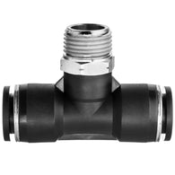 Push to Connect Tube Fittings-Tee Adapter-Tube to Male Threaded Pipe
