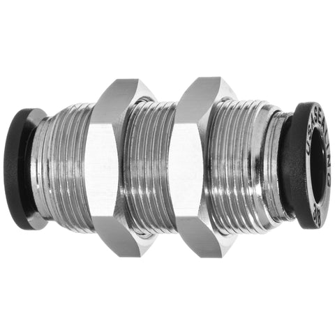 Push to Connect Tube Fittings-Bulkhead Through Wall Straight Connector