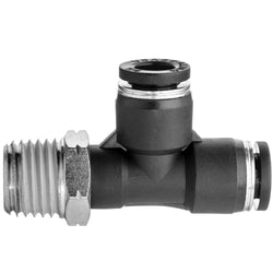 Push to Connect Tube Fittings-Right Angle Tee Adapter-Tube to Male Threaded Pipe