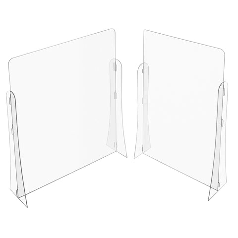 L-Shape Plastic Classroom Desk Dividers with Extra Legs