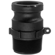 Type F Adapter with Threaded NPT Male End - Polypropylene
