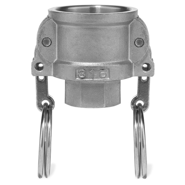 Type D Coupler with Threaded NPT Female End - 316SS