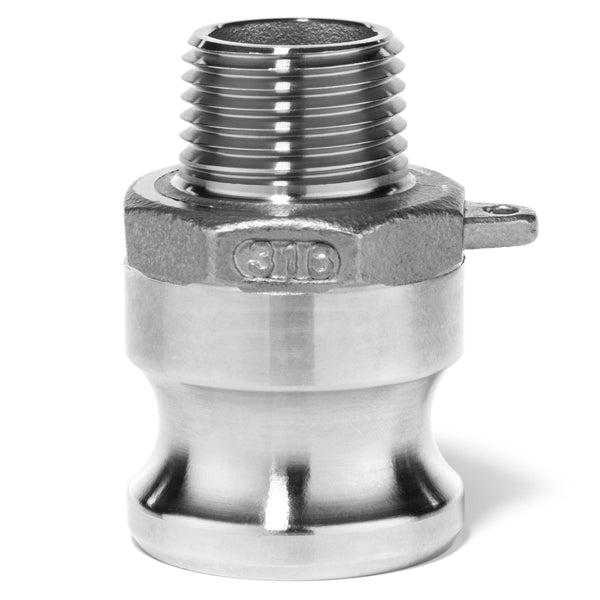 Type F Adapter with Threaded NPT Male End - 316SS