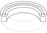 Heavy Duty Low Friction O-Ring Supported U-Cup