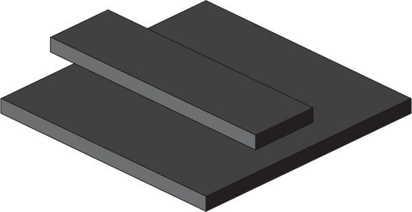 High Temperature EPDM Rubber Sheets and Strips - With Adhesive