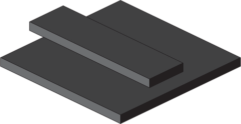 Medium Hardness EPDM Rubber Sheets and Strips - With Adhesive