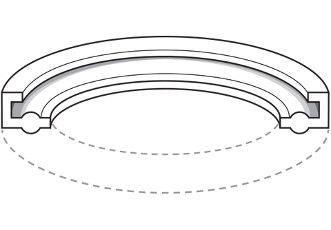 FDA EPDM Sanitary Gasket with Flange