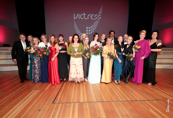 The winners and laudators of the Victress Awards 2018.
